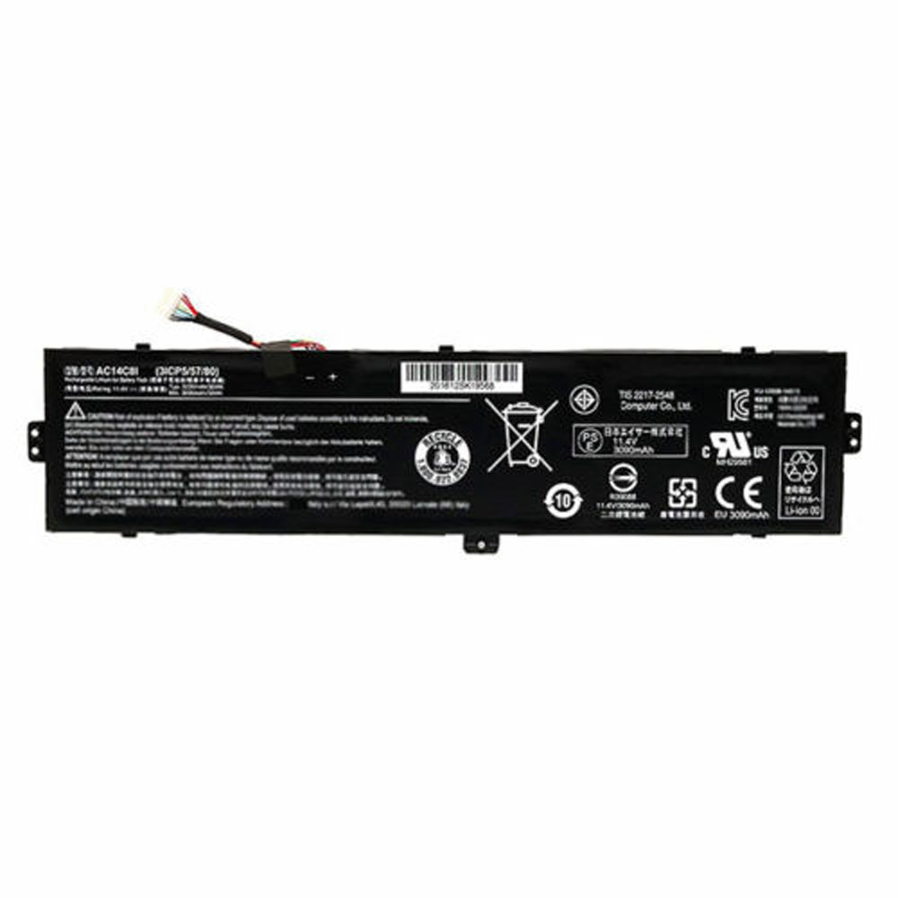AC14C8I Baterie do laptopów 3090mAh/35Wh 11.4V
