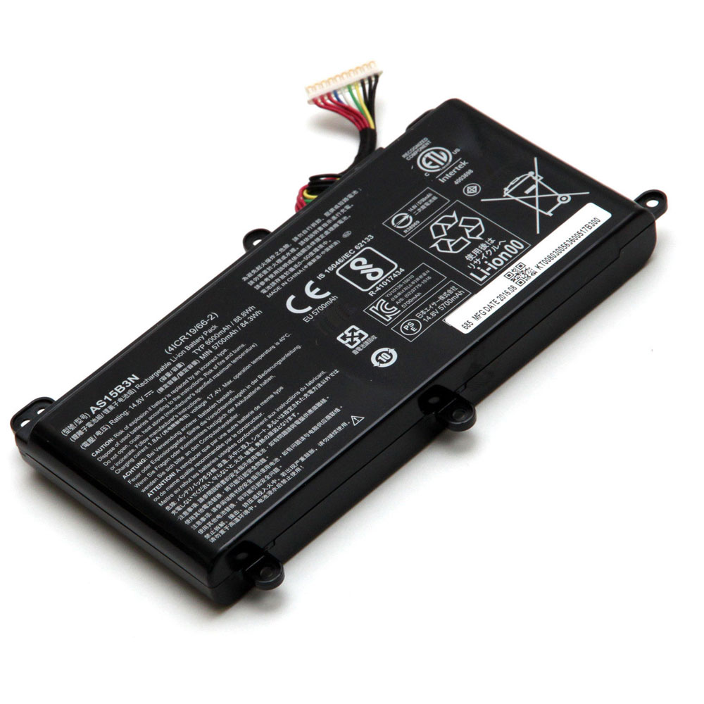 AS15B3N Baterie do laptopów 6000mAh/88.8Wh 14.8V