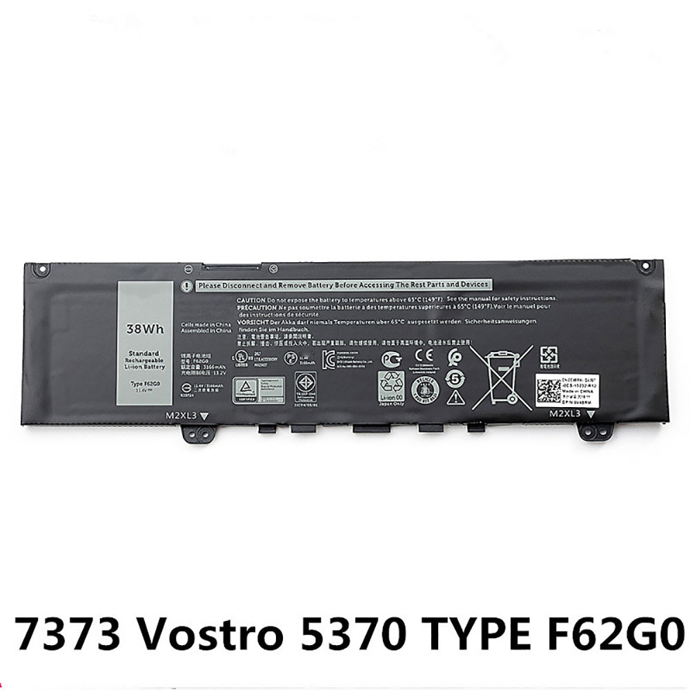 F62G0 Baterie do laptopów 38Wh/3166mAh 11.4V