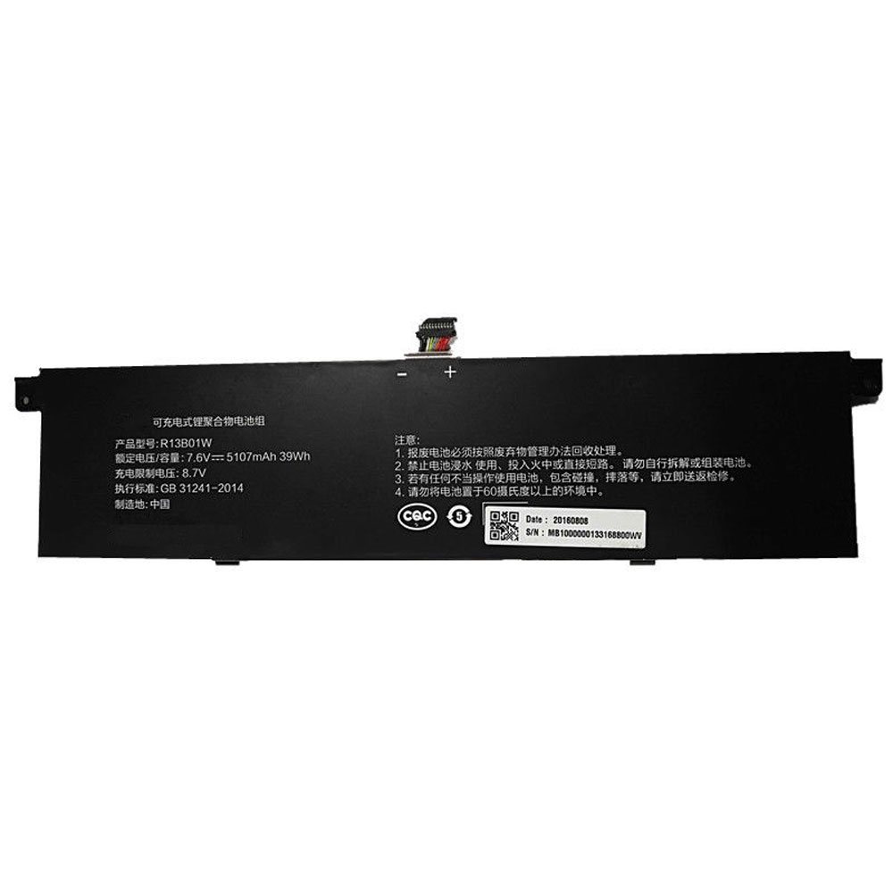 R13B01W Baterie do laptopów 39Wh/5107mAh  7.6V