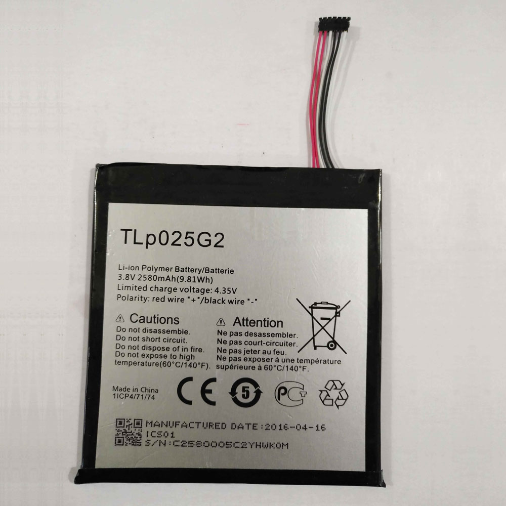 TLp025G2 Baterie do laptopów 2580MAH/9.8Wh 3.8V/4.35V