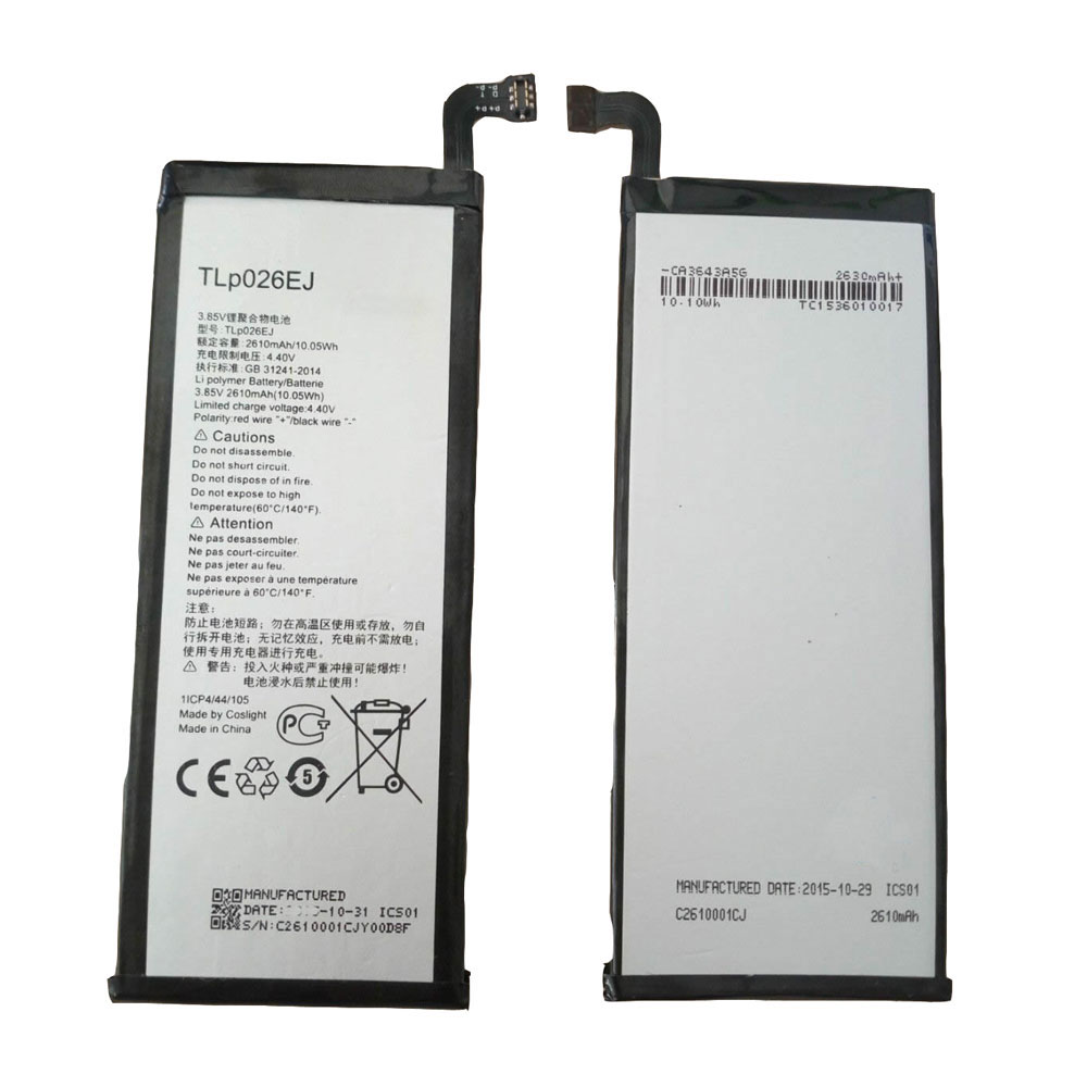TLp026EJ Baterie do laptopów 2610MAH/10.05Wh 3.85V/4.4V